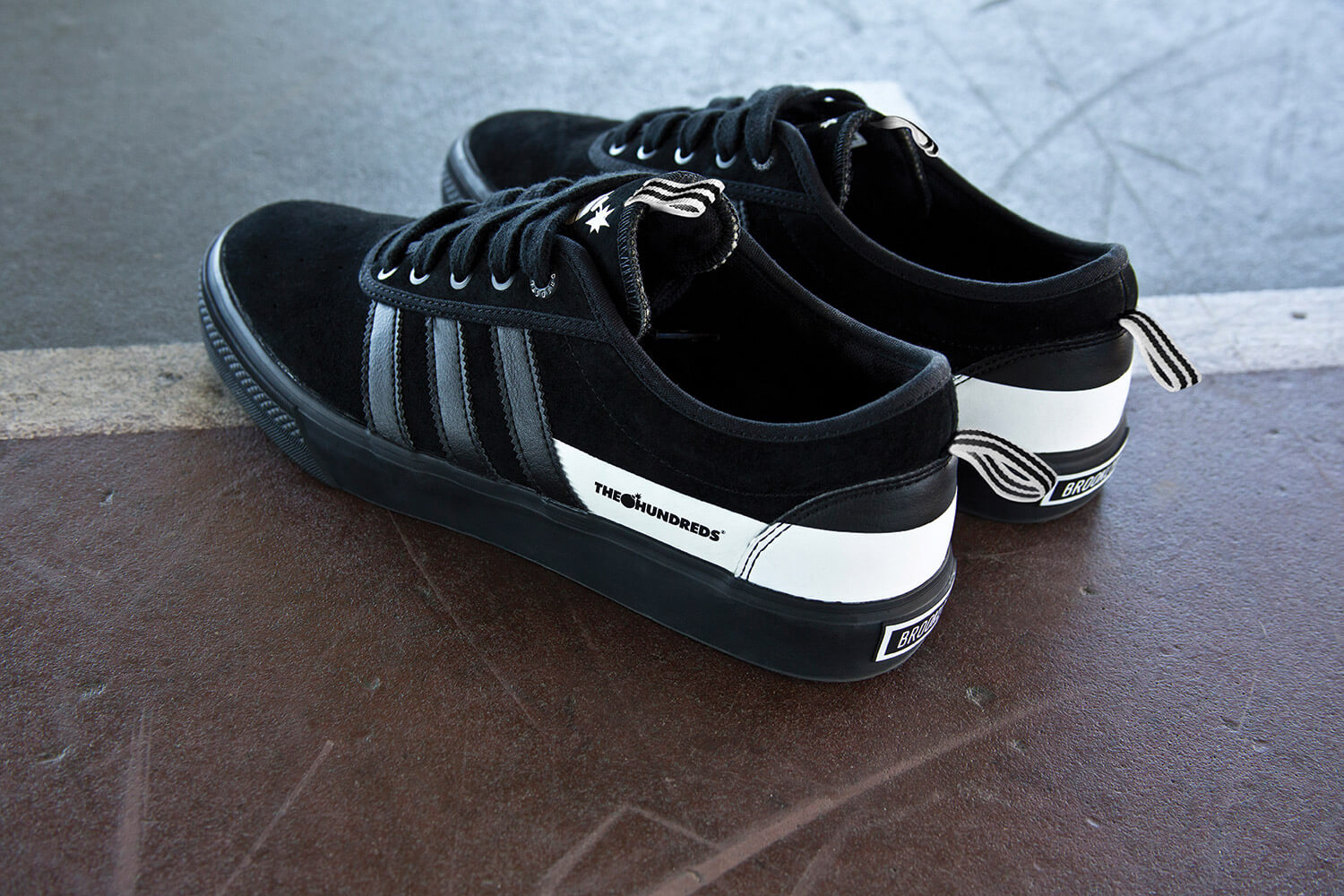 Adidas Skateboarding x The Hundreds, Black Sneakers