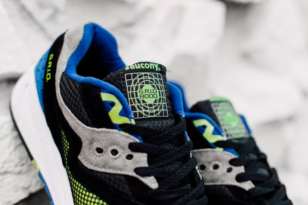 Black Grid 8000 CL Sneaker by Saucony