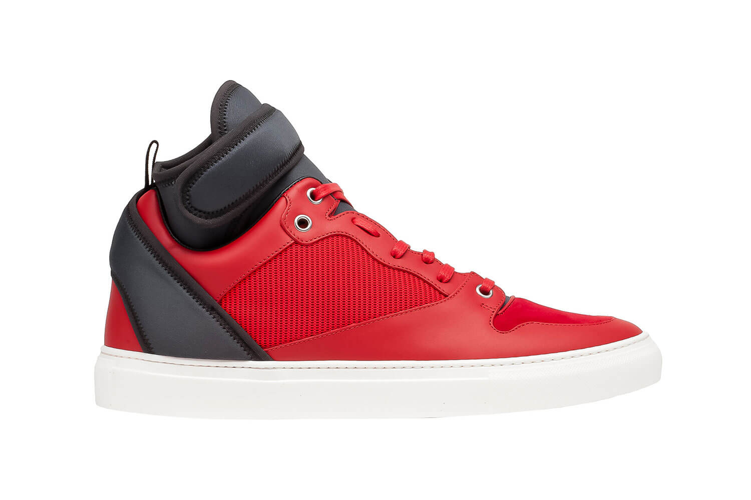 Red Neoprene High-top Sneaker By Balenciaga