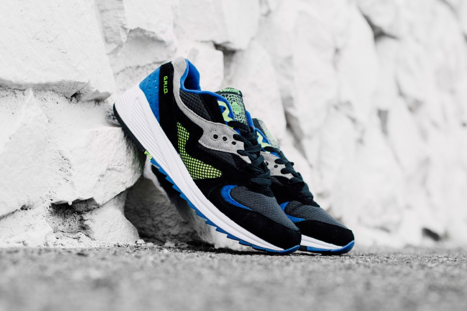 Saucony's Grid 8000 CL Sneaker Black, Purple