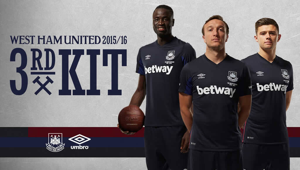 West Ham 15-16 Third Kit By Umbro And West Ham