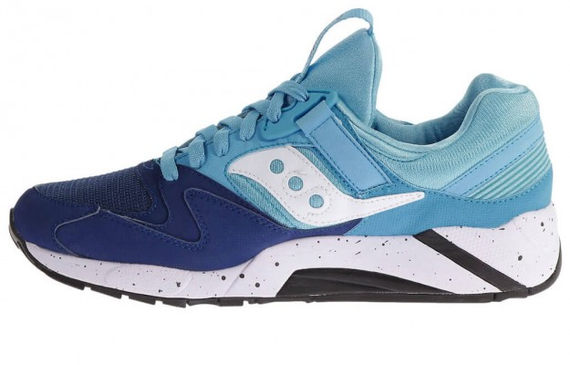 Low-Top,Navy-Blue Grid 9000 by Saucony