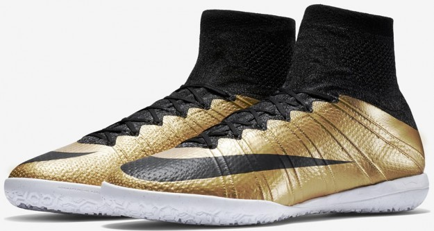 Metallic Gold Mercurial 2015-2016 Football Boots By Nike