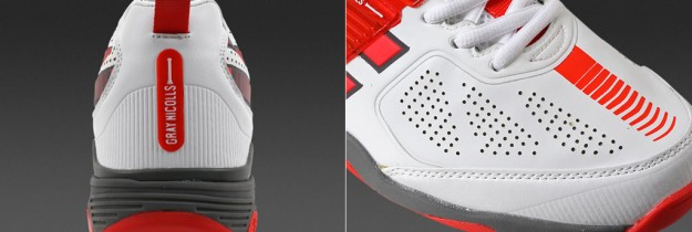 Red-White Cricket Shoes By Gray-Nicolls