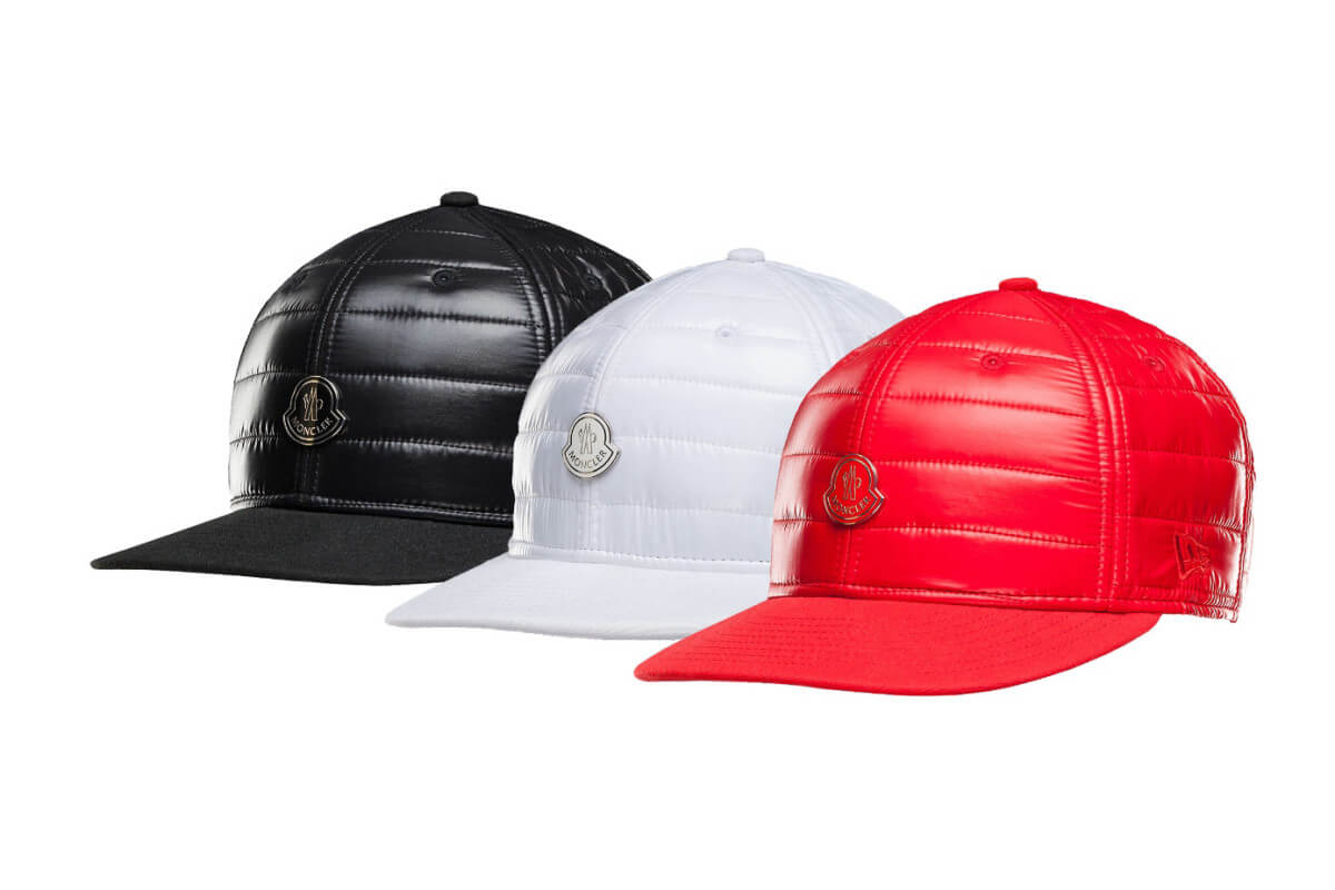 Red, White Snapbacks By Moncler & New Era