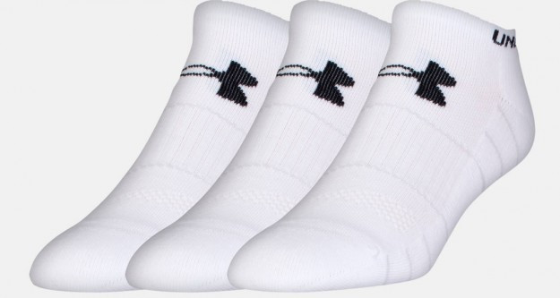 White Men's UA Performance No Show Socks
