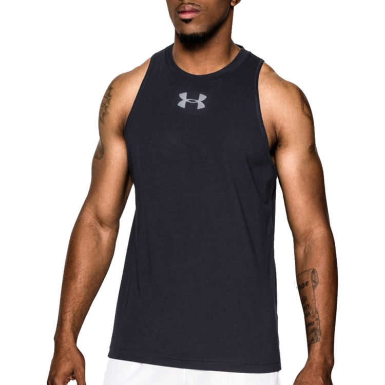 Black Charged Cotton Sleeveless Shirt By Under Armour
