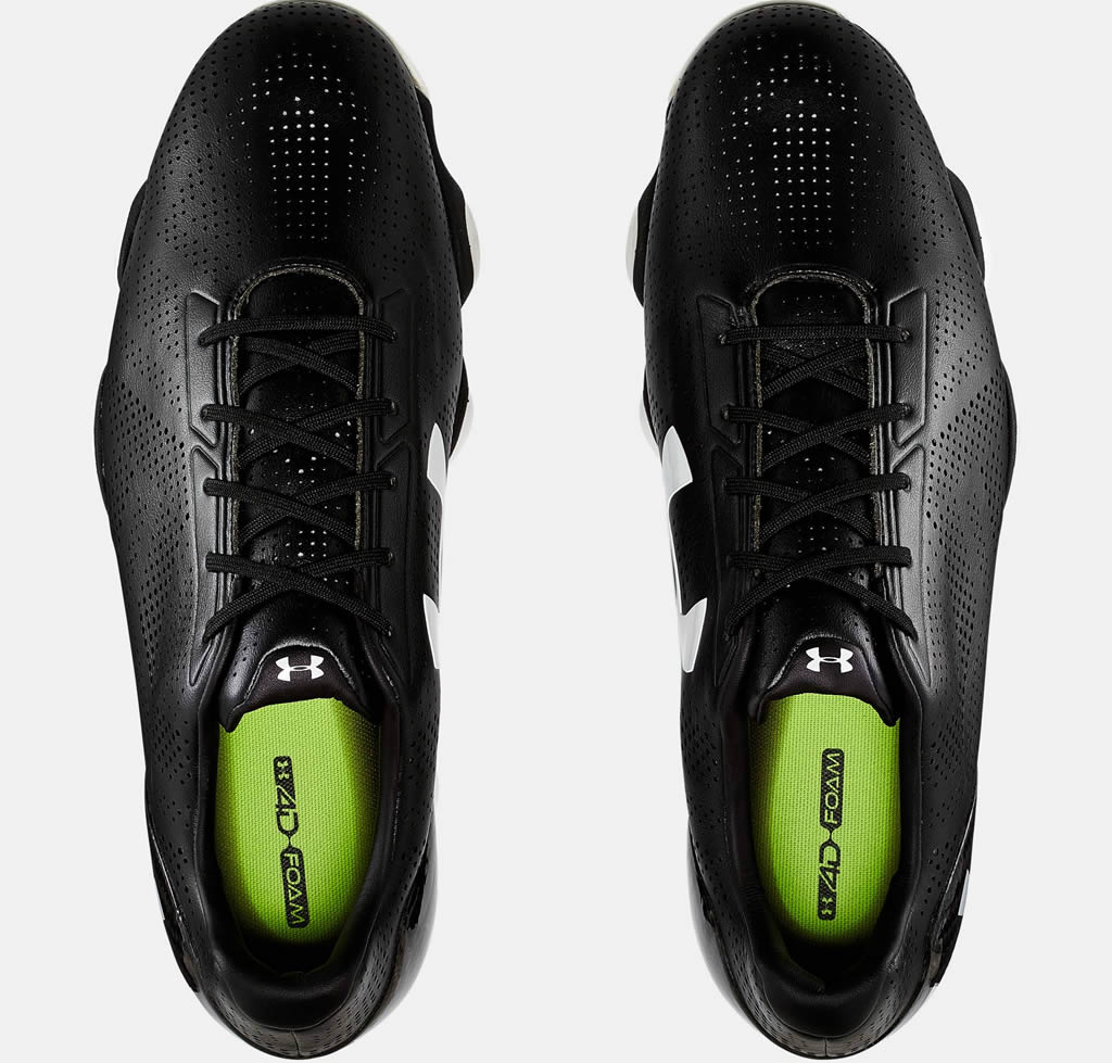 Black Drive One golf shoe by Under Armour