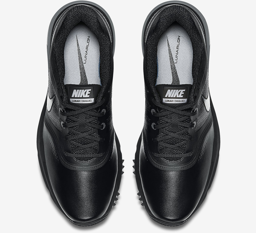 Black-Grey Lunar Command Golf Shoe by Nike