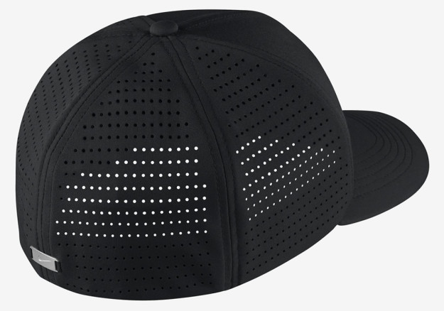 Black Nike Classic 99 Golf Hat, Back