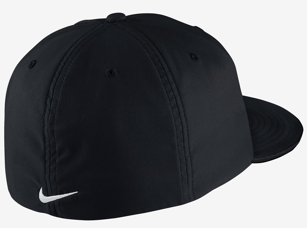 Black Nike Golf True Tour Fitted Hat, Back