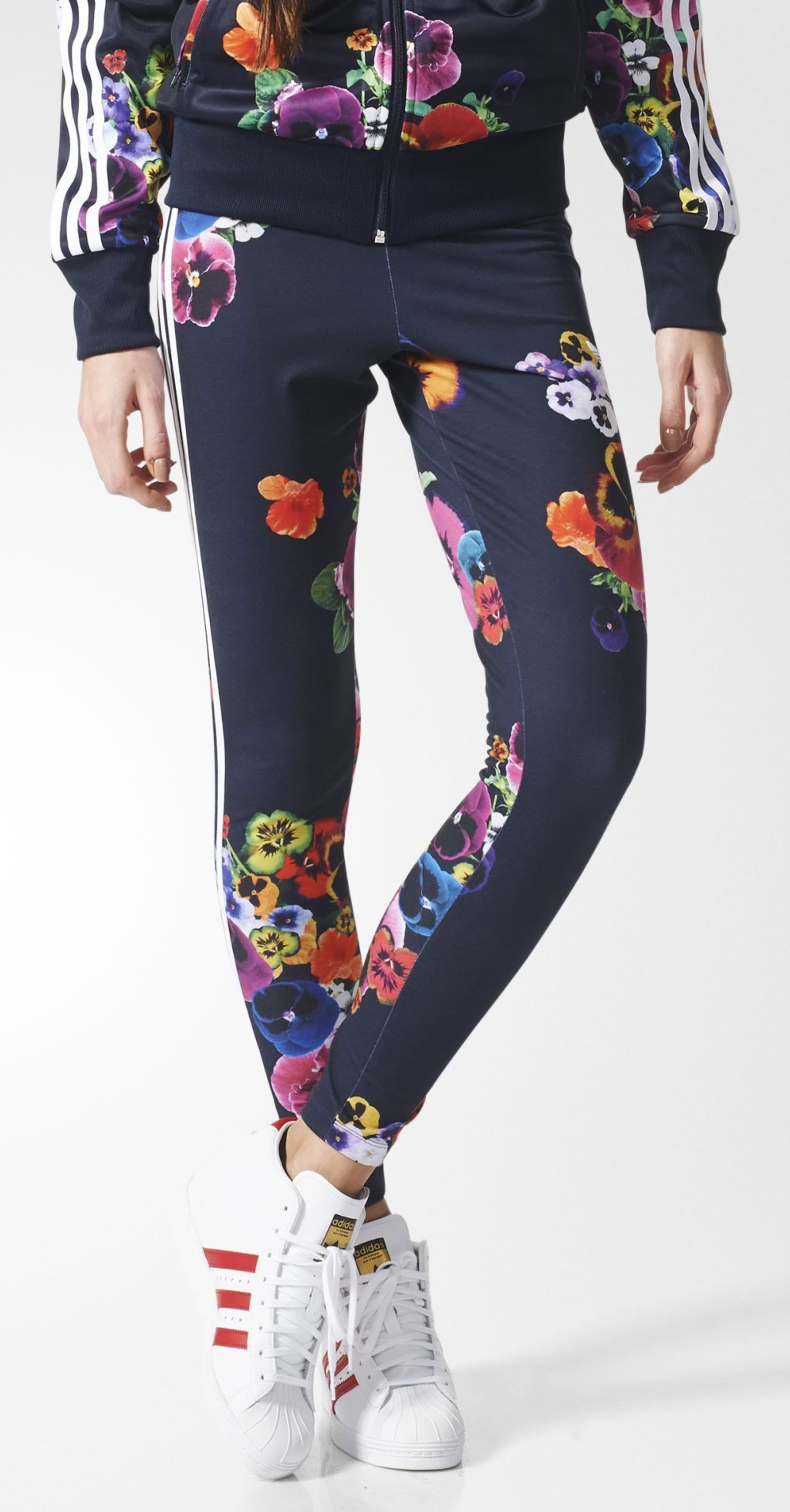 2f62cd8cd46 Floral Burst Leggings For Women By Adidas