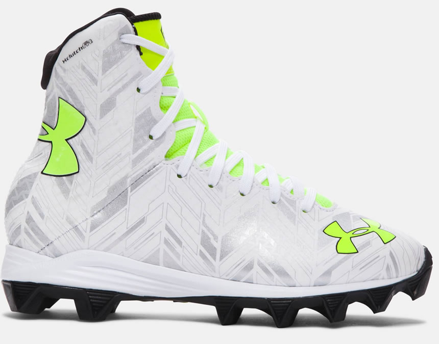 Kids' Highlight RM Football Cleat By Under Armour White