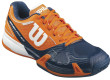 Orange-Navy Men's Rush Pro 2.0 Tennis Shoes By Wilson
