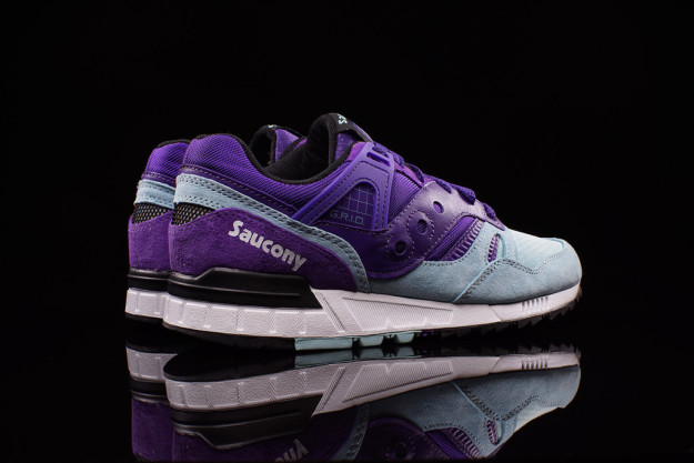 Purple-Light Blue combos Grid SD Sneakers by Saucony