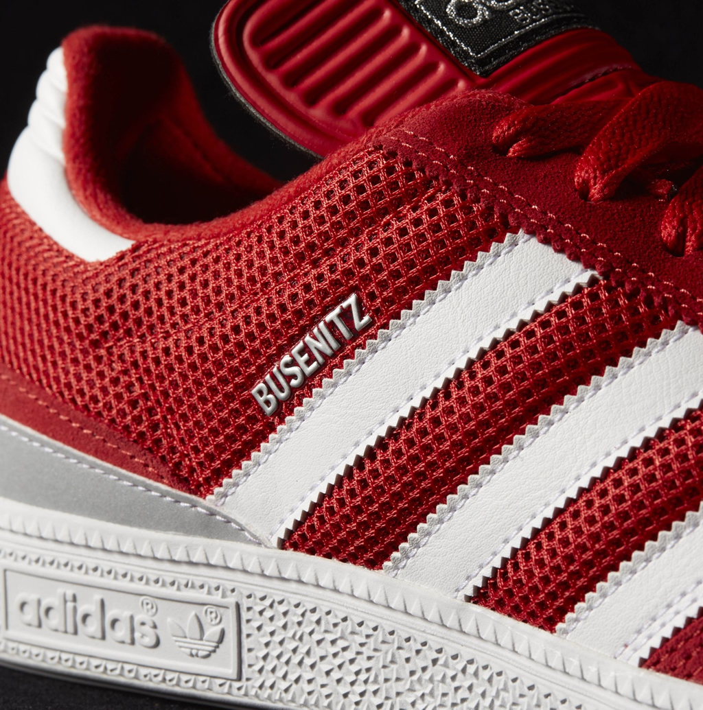 reputable site 11e10 36aaf Red-White Men s Skate Shoe by Adidas Originals x Busenitz ...