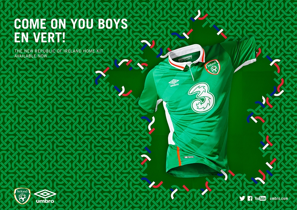 Republic Of Ireland 2016 Shirt by Umbro