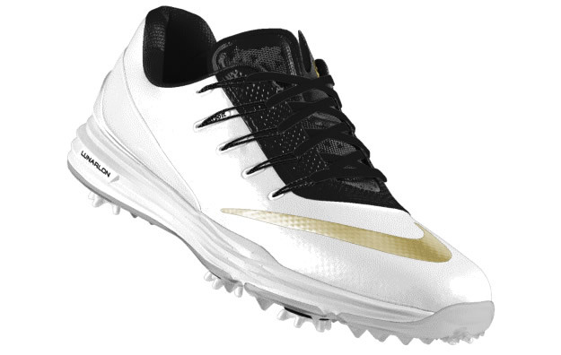 Rory McIlroy, White-Gold Nike Lunar Control 4 iD Golf Shoe