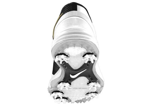 Sole, White-Gold Lunar Control 4 iD Golf Shoe by Nike