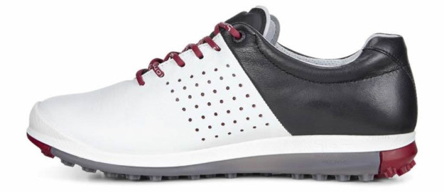 White-Black BIOM Hybrid 2 HM Golf Shoe by ECCO