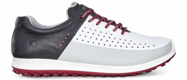 White-Black ECCO BIOM Hybrid 2 HM Golf Shoe