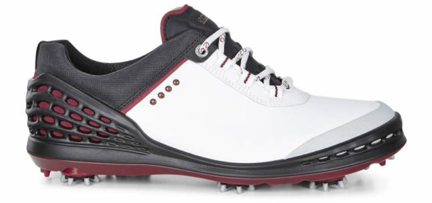 White-Black ECCO Cage golf shoe