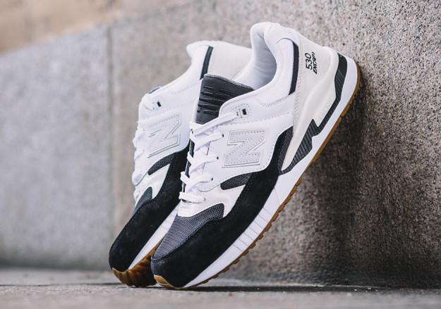 White-Black New Balance 530 Men's Running Shoes