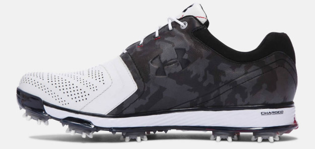 White-Black Tempo Tour Golf Shoe by Under Armour