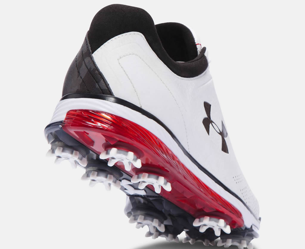 White-Black Under Armour Tempo Tour Golf Shoe