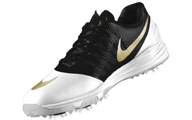 White-Gold Nike Lunar Control 4 iD Golf Shoe, Rory McIlroy
