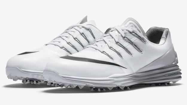 White-Grey Nike Lunar Control 4 Men's Golf Shoe