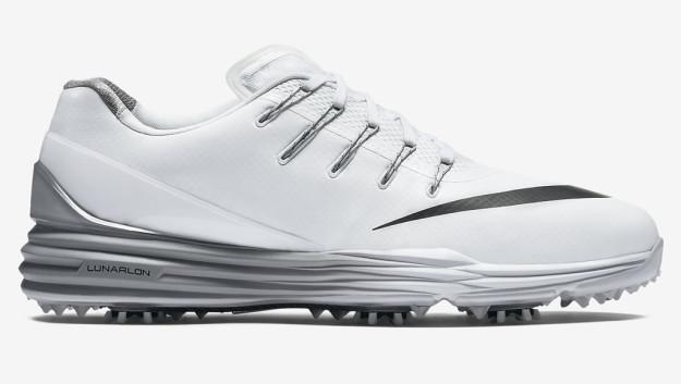 White-Grey Nike Lunar Control 4 Men's Golf Shoe, Side
