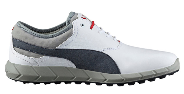 White-Grey Puma IGNITE Men's Golf Shoes