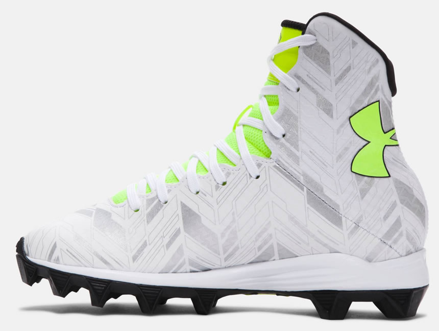 White Highlight RM Football Cleat By Under Armour
