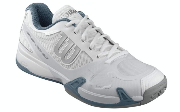 White Men's Rush Pro 2.0 Tennis Shoes By Wilson
