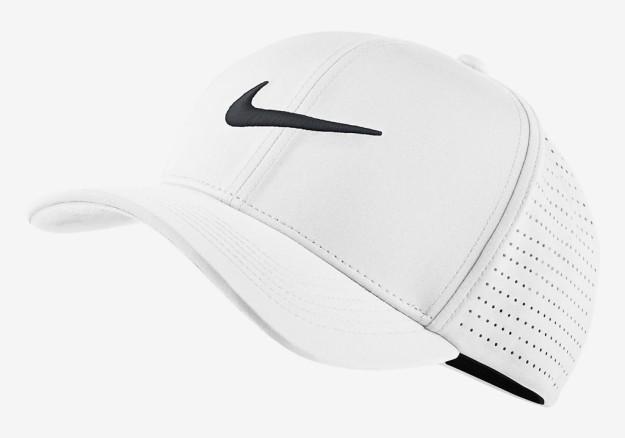 White Nike Classic 99 Golf Hat