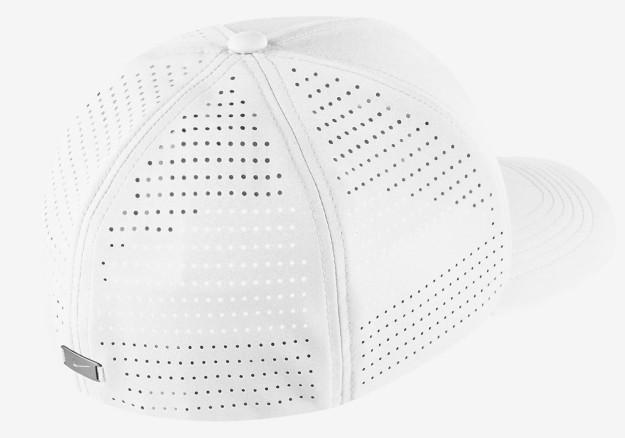White Nike Classic 99 Golf Hat, Back