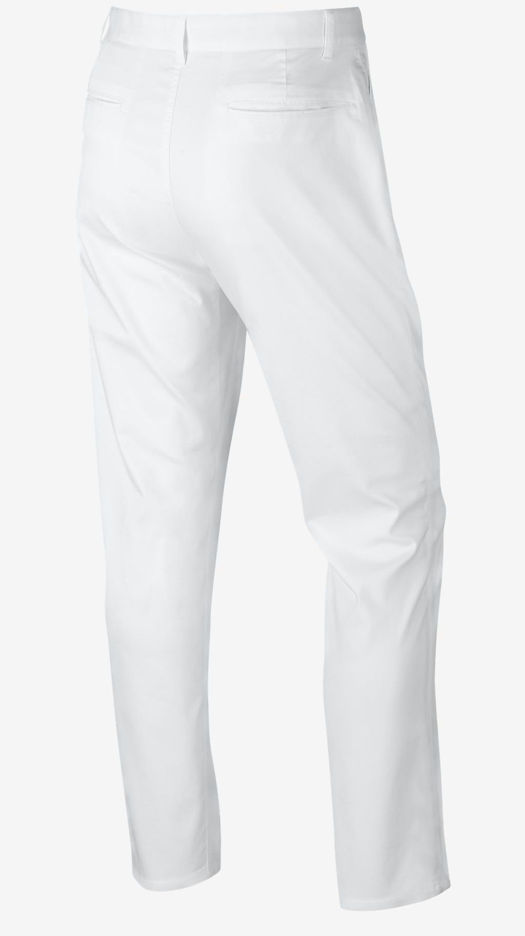 White Nike Modern Fit Washed Golf Pants, Back
