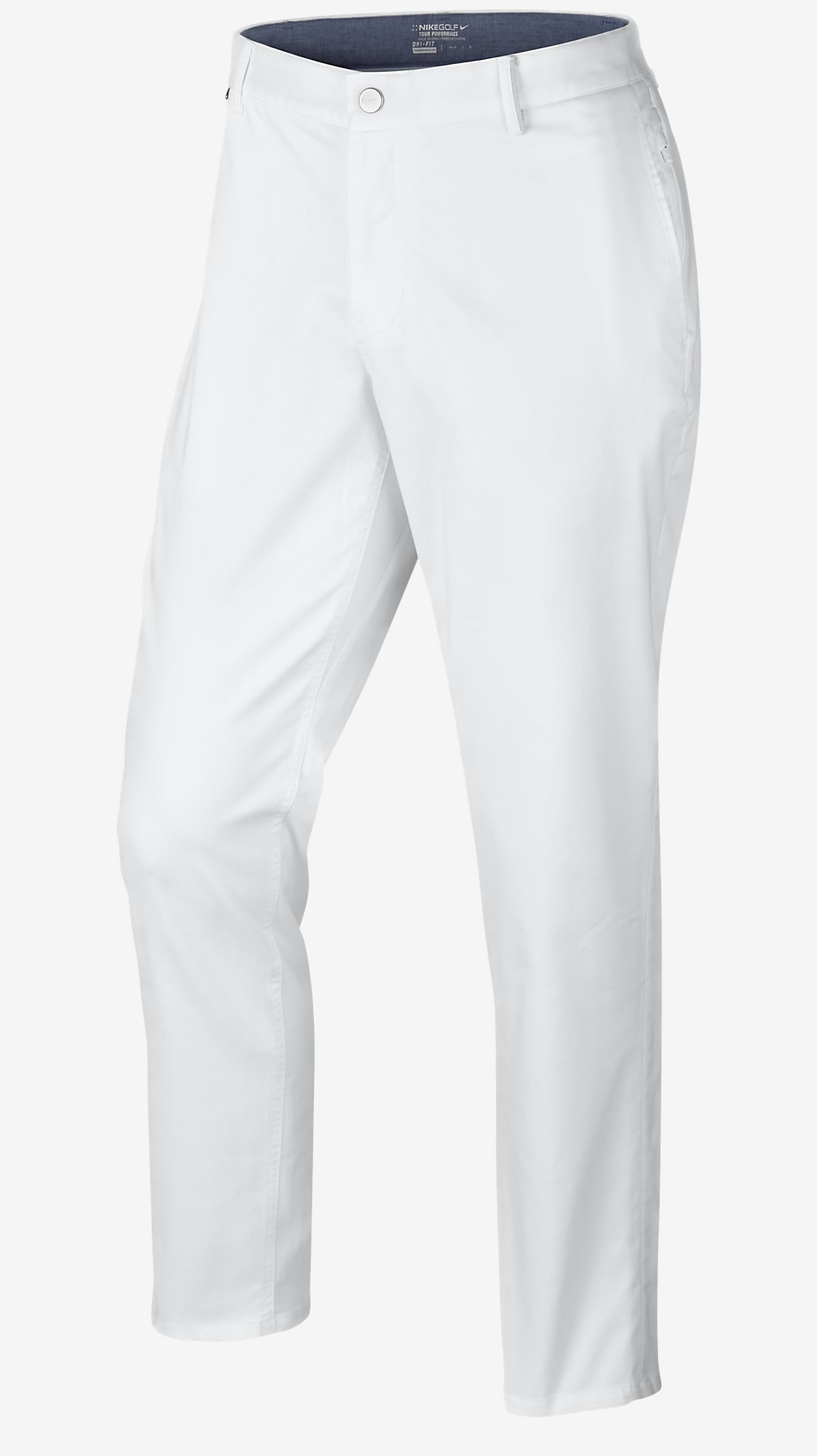 White Nike Modern Fit Washed Golf Pants