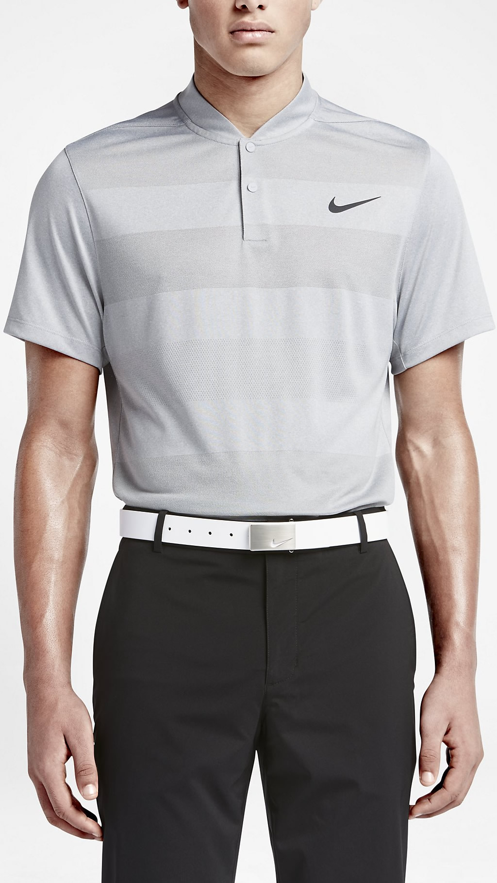Wolf Grey Nike MM Fly Blade Polo Shirt