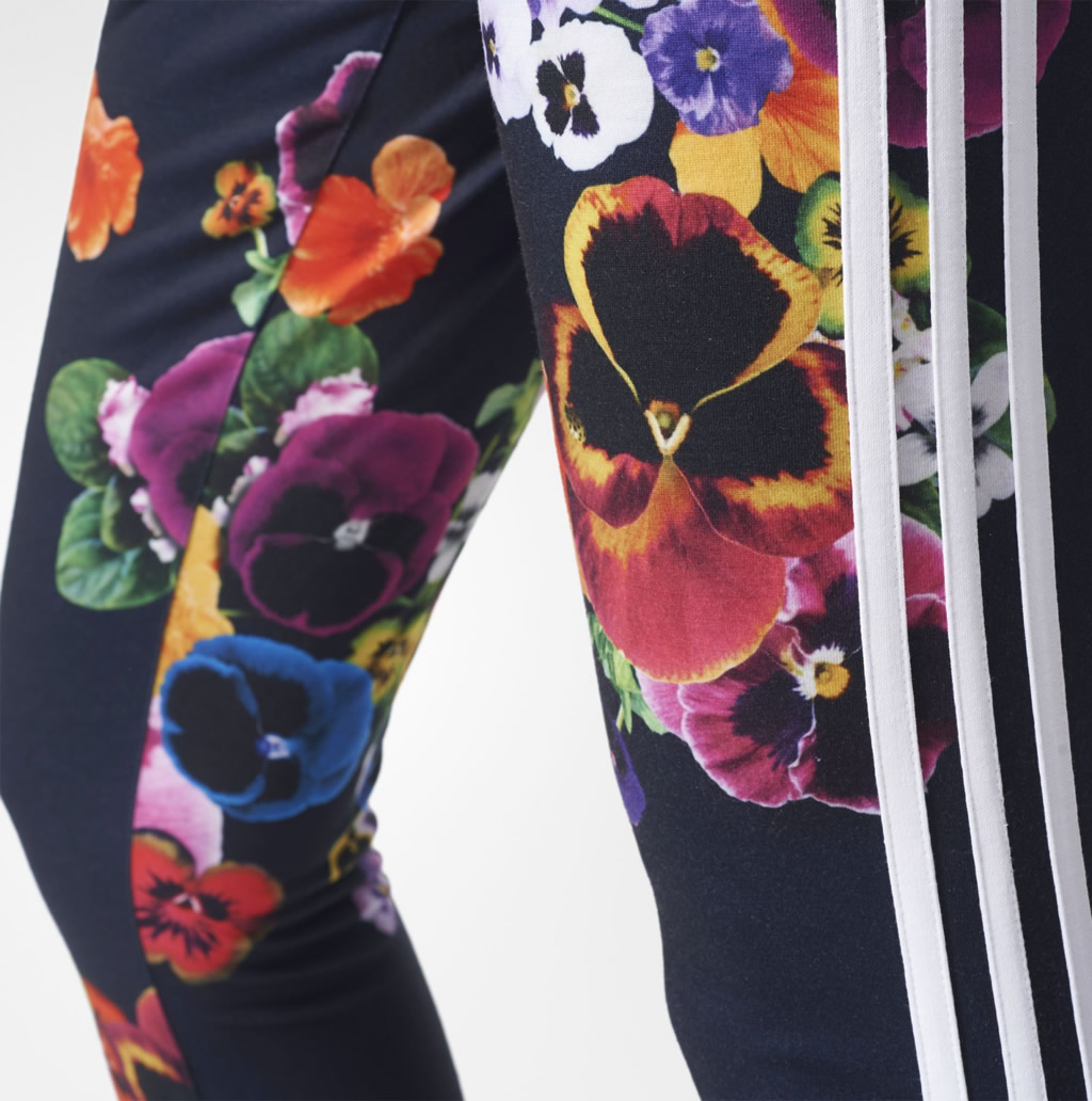 5c132bd1f1d Women's Originals Floral Leggings by Adidas Women's Originals Floral  Leggings with 3-Stripes