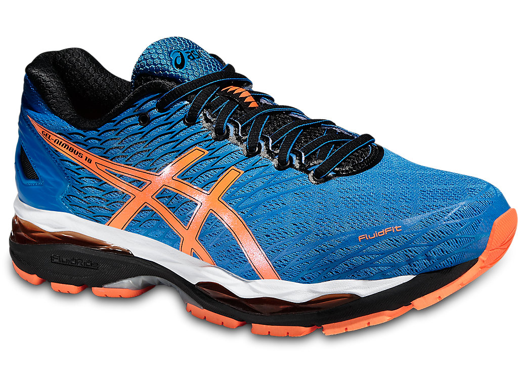 Blue Asics Gel-Nimbus 18 Running Shoes for Men