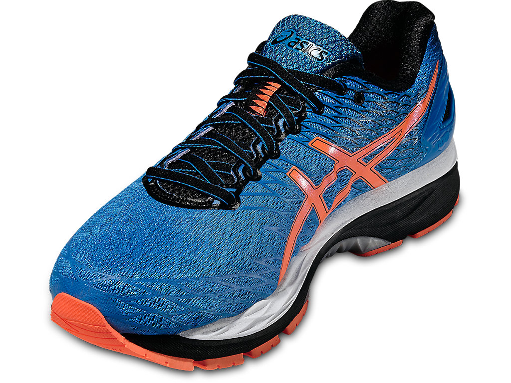 Blue Gel-Nimbus 18 Running Shoes by Asics