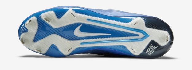 Blue Nike Lunar Trout 2 Baseball Cleats, Sole