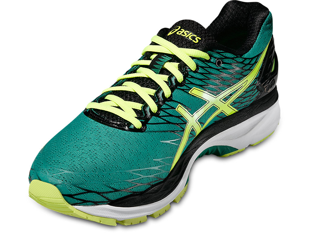Green Gel-Nimbus 18 Running Shoes by Asics
