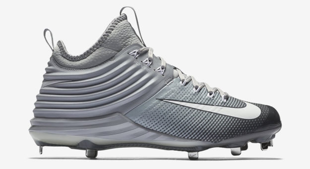 Grey Nike Lunar Trout 2 Baseball Cleats