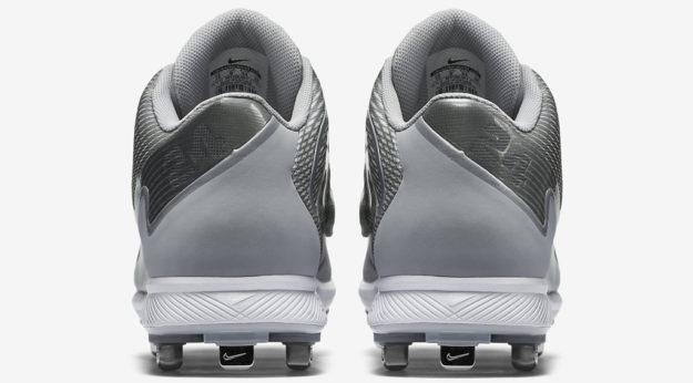 Grey Nike Men's Baseball Cleats, Heel Tab