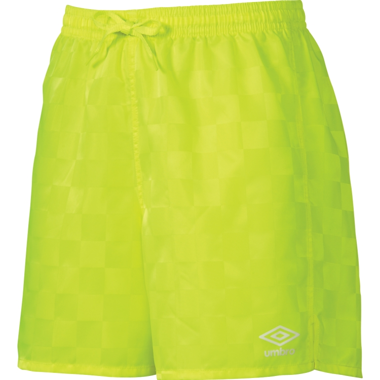 Lime Umbro Youth Rio Check Soccer Shorts
