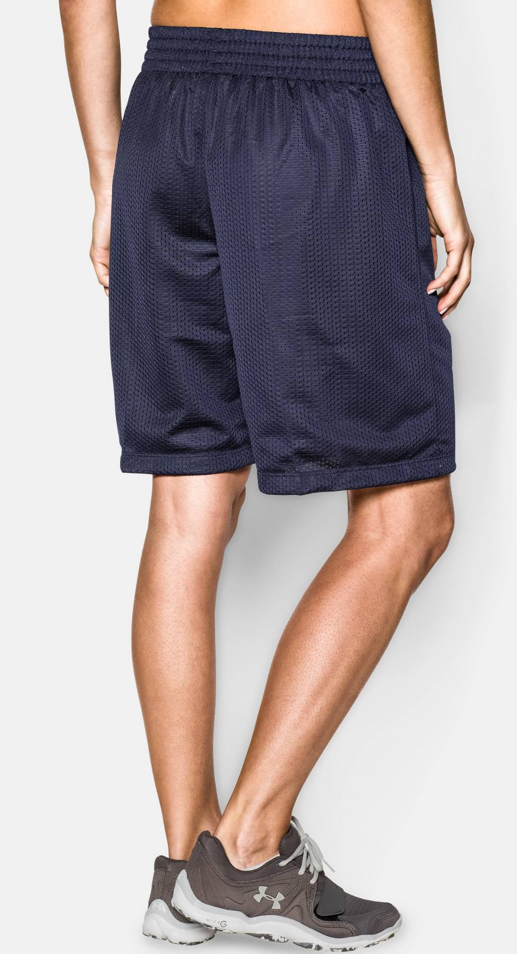 Navy Women's Basketball Shorts by Under Armour
