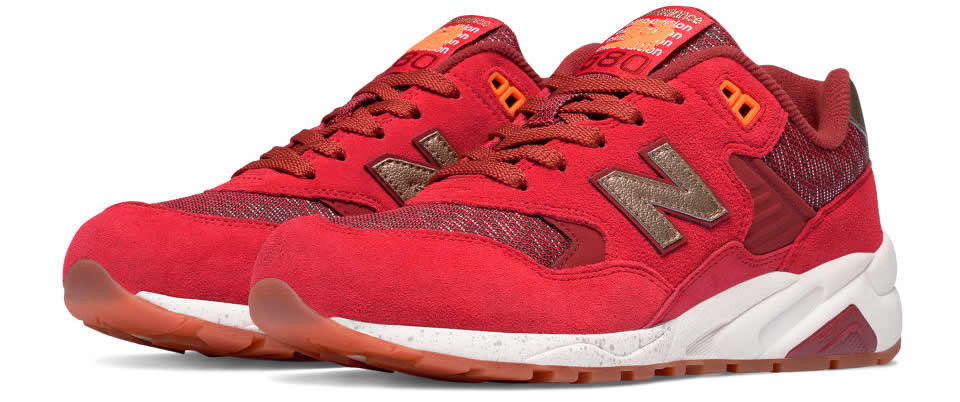 Red-Gold New Balance 580 Elite Sneaker